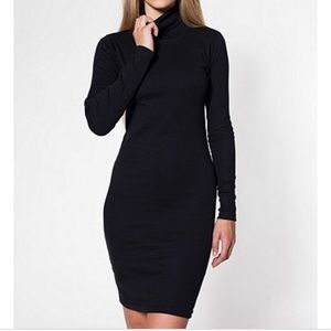 AMERICAN APPAREL SPANDEX TURTLENECK DRESS